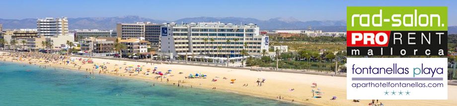 Bike Hire with online booking system for Hotel Fontanellas in Playa de Palma / Mallorca by Radsalon BMC Pro Rent